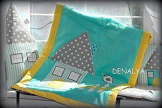 Textil - Prehoz do postieľky 120x60cm z kolekcie MINT - 5462447_