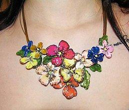 Náhrdelníky - garden flowers 11, náhrdelník - 5459650_