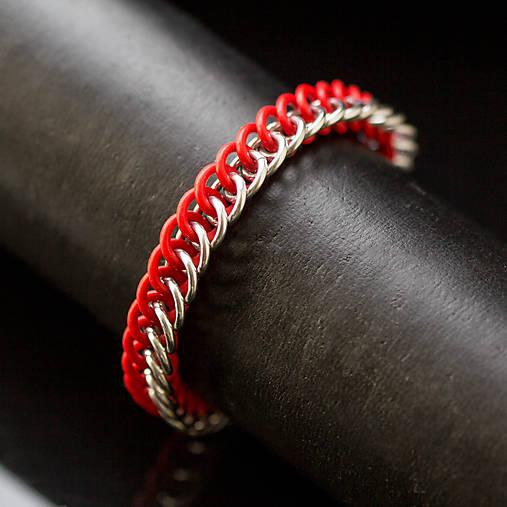 Pružný half - náramok (červený)