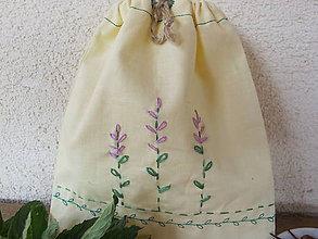 Úžitkový textil - Vrecko na bylinky-šalvia - 5459429_