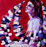 Obrazy - Nálepky tvojich ranných bozkov - obraz na stenu, maľba, originál - 5463367_