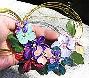 violet flower- kvetinový náhrdelník