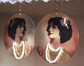 Náušnice - Vintage portrét 01 - 5463895_