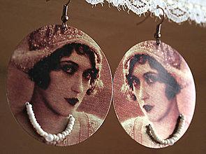 Náušnice - Vintage portrét 02 - 5463943_