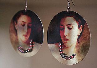 Náušnice - Vintage portrét 03 - 5463992_