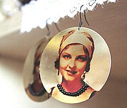 Náušnice - Vintage portrét 04 - 5464012_