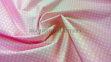 Textil - Bavlna bledo ružová biele bodky - cena za 10 cm - 5462594_
