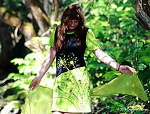 Šaty - Šaty úpletové šité, farbené a maľované PRALESNÍČKY - 5463048_