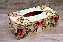Krabičky - Ružičkový vreckovník - 5464231_