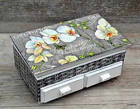 Krabičky - White orchid - 5464067_