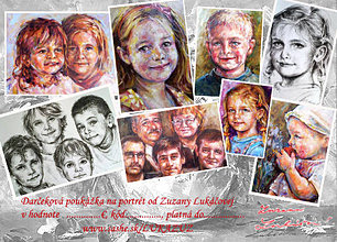 Darčekové poukážky - Darčeková poukážka na portrét (portréty) výsledná cena dohodou vopred - 5463658_