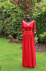 Šaty - Maľba na červené šaty... - 5464208_
