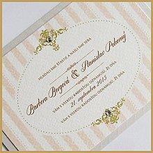 Papiernictvo - Svadobné oznámenie ~Vintage retro~ - 5464637_