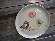 Nádoby - Tanier Vtáčiky 28cm - 5469070_