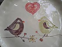 Nádoby - Tanier Vtáčiky 28cm - 5469084_