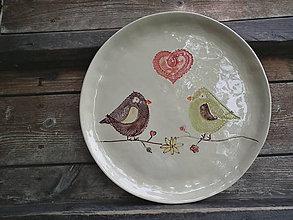 Nádoby - Tanier Vtáčiky 28cm - 5469066_