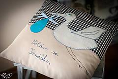 """Úžitkový textil - Vankúšik """" Volám sa Tomáško"""" - 5469199_"""