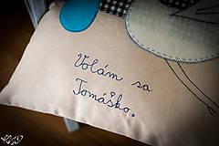 """Úžitkový textil - Vankúšik """" Volám sa Tomáško"""" - 5469203_"""
