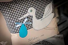 """Úžitkový textil - Vankúšik """" Volám sa Tomáško"""" - 5469208_"""
