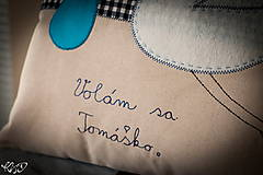 """Úžitkový textil - Vankúšik """" Volám sa Tomáško"""" - 5469210_"""
