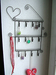 Dekorácie - vešiak na šperky - 5466403_