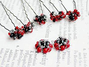 Sady šperkov - Red & Black - 5468301_