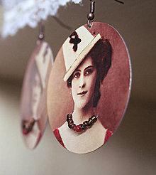 Náušnice - Vintage portrét 06 - 5466591_