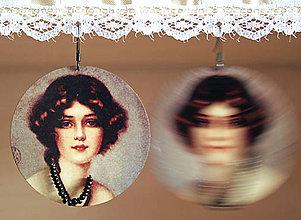 Náušnice - Vintage portrét 07 - 5466614_