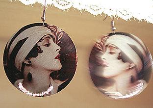 Náušnice - Vintage portrét 08 - 5466635_