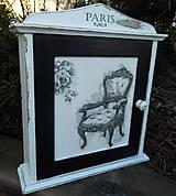 """Krabičky - Skrinka na kľúče """"Kreslo v Paríži"""" - 5469236_"""