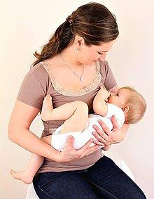 Tehotenské/Na dojčenie - 3v1 tričko pre tehotné, dojčiace, nedojčiace s čipkou - kr. rukav - 76 faireb - 5469597_