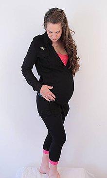 Tehotenské/Na dojčenie - Tehotenské 3/4 legíny s čipkou - 76 faireb - 5469741_