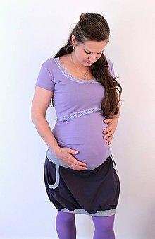 Tehotenské/Na dojčenie - Tehotenská sukňa - 299 farebných kombinácií - 5469787_