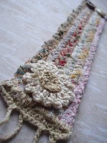 Náramky - Textilný náramok Kvety v púšti - 5467988_