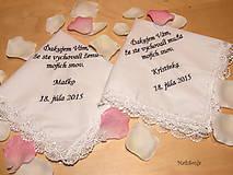 Darčeky pre svadobčanov - Svadobné vreckovky - 5469763_