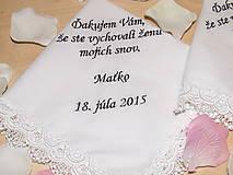 Darčeky pre svadobčanov - Svadobné vreckovky - 5469764_