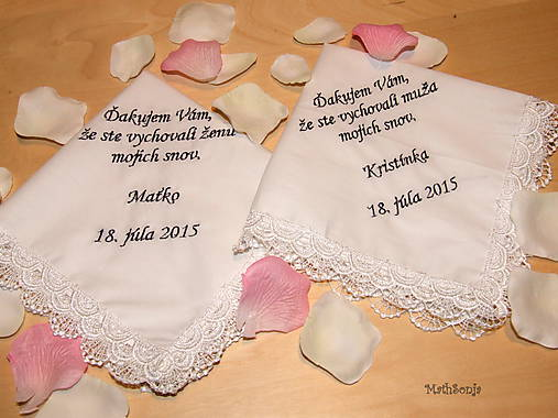 Svadobné vreckovky
