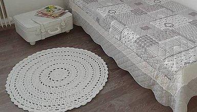 Úžitkový textil - koberček v bielej - 5468858_