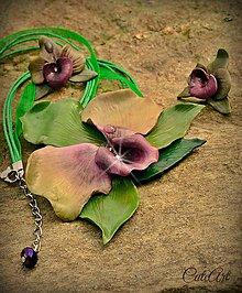 Sady šperkov - Svieža orchidea - sada šperkov - 5468215_