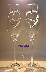 Nádoby - Evelyn - svadobné poháre - 2ks - 5469867_