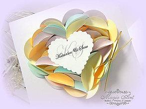 Papiernictvo - Pastelové srdce - 5468756_