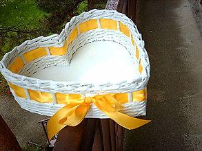 Košíky - Srdiečko - kukuricová žltá - 5467539_