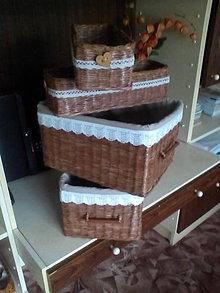 Košíky - Sada úložných boxov Daša - 5468480_
