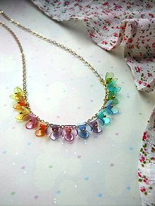 Náhrdelníky - Zlaténkový náhrdelník... - 5472479_