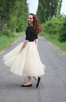 Sukne - MIDI tylová sukňa - 5472813_