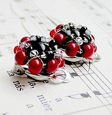 Náušnice - Red & Black - 5470781_