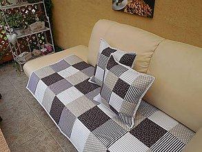Úžitkový textil - PREHOZ na GAUČ , SEDACIU SUPRAVU (Vankus 40 x 40 cm - Hnedá) - 5472942_