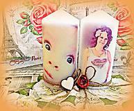 Svietidlá a sviečky - sviečka s vlastnou fotkou a srdieckami - 5470197_
