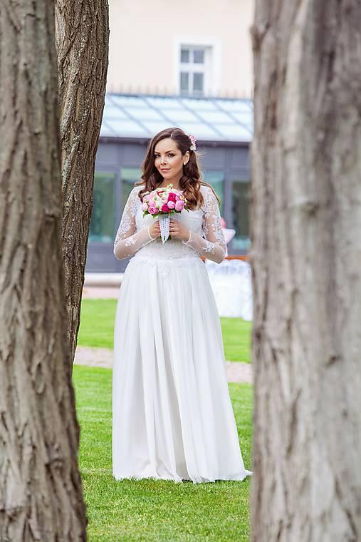 ecdf185d7673 ľahučké splývavé vílovské šaty s dlhým rukávom   mara.zb - SAShE.sk ...