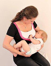 Tehotenské/Na dojčenie - 3v1 tričko pre tehotné, dojčiace, nedojčiace - kr. rukav - 76 farieb - 5471093_